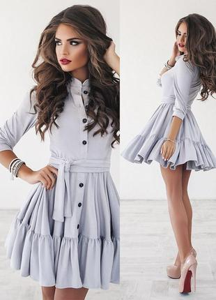 Стильное замшевое платье {все размеры и расцветки}