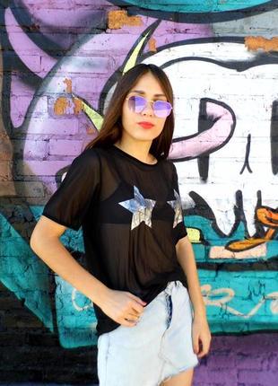 Прозрачная футболка со звездами atmosphere