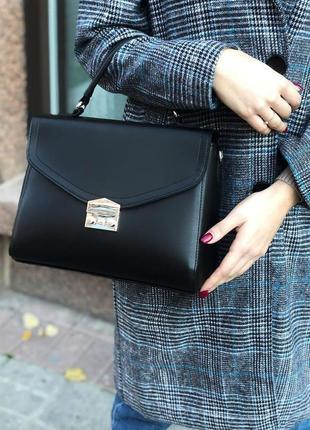 Черная сумка кросс боди