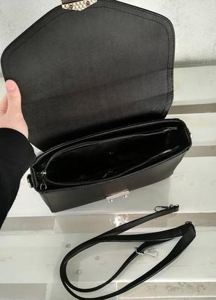 Черная сумка кросс боди5