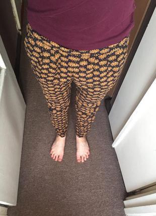 Штаны в орнамент в пижамном стиле. штаны для дома.