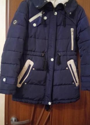 Зимняя куртка удлинённая1 фото