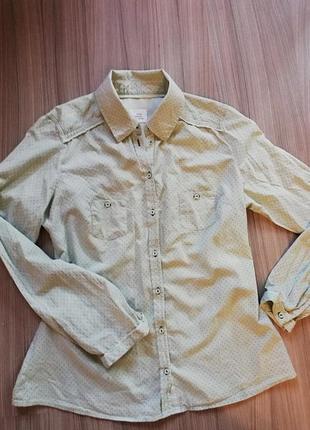 Рубашка opus бледно-мятного цвета изумительного качества.