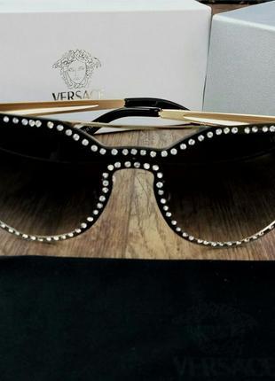 Очки versace женские солнцезащитные с камнями