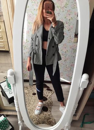 Стильный двубортный пиджак-пальто