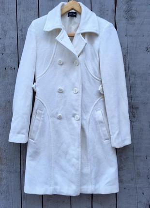Большая распродажа 🔥1 1=3молочное пальто бушлат, демисезонное пальто с мехом воротом