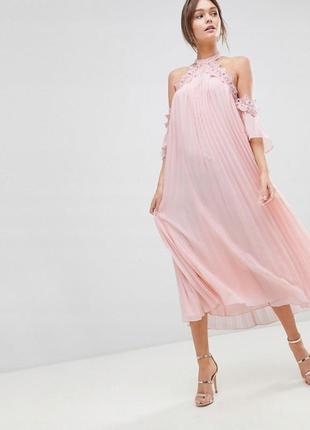 True decadence романтична рожева сукня-плісе оверсайз