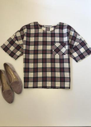 Котоновая блуза zara