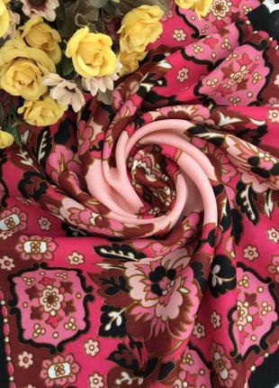 Красивый 🌺👑🌺 шерстяной платок из 100 шерсти, 64х64.