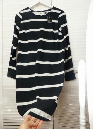Платье в  полоску esmara (xs/небольшая s см.замеры)