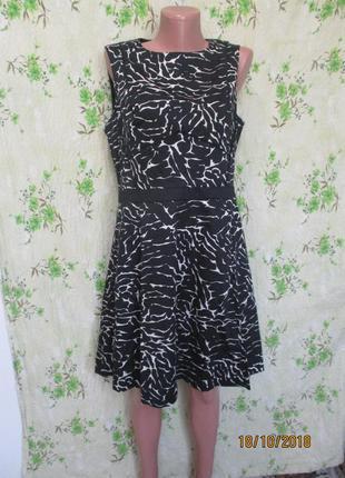Красивое платье миди в оригиналный принт/плотный коттон 48-50 размер