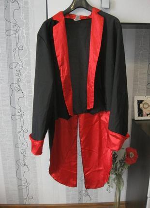Карнавальная накидка плащ пиджак фрак дракула вампир черт дьявол 50-52