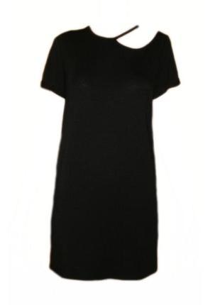 Летнее платье свободного кроя, прямое вискоза асимметрия повседневное размер 12 наш46