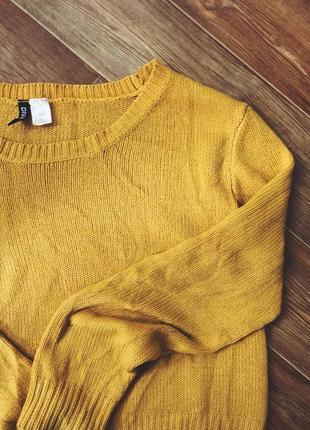 Горчичный свитер оверсайз
