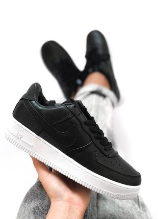 Классика! женские кроссовки nike air force 1 black/ white