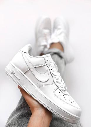 Классика! женские кроссовки nike air force 1 white