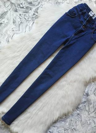 Базовые джинсы скини на высокой посадке skinny