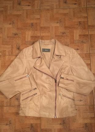 Косуха натуральная кожа, фирменная куртка кожаная south