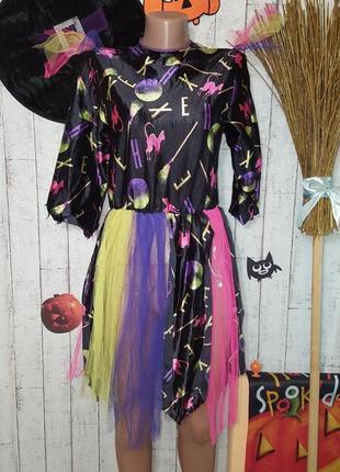 Маскарадное платье ведьмы карнавальный костюм на хэллоуин helloween р. м