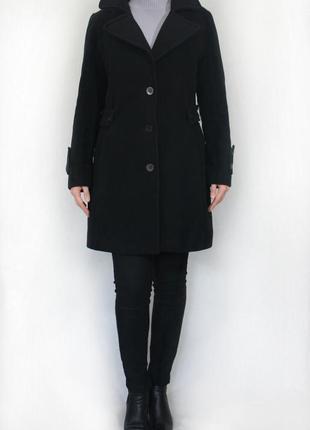 Шерятяное пальто maskara. италия. 80% шерсть с кашемиром