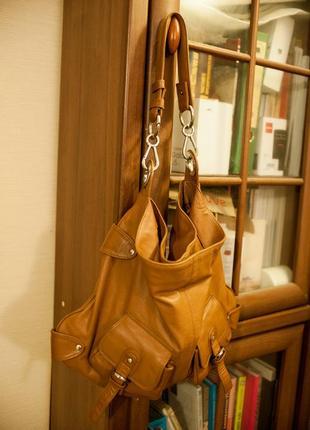 Кожаная сумка tommy&kate