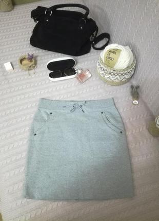 Теплая меланжевая юбочка mitch&co, германия(tcm tchibo), р.м