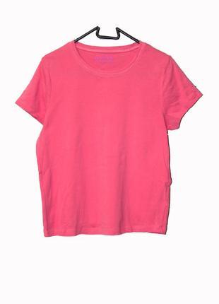 Хлопковая розовая футболка