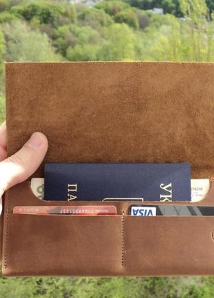 Распродажа! кошелек ручной работы из натуральной кожи (возможна упаковка на подарок)