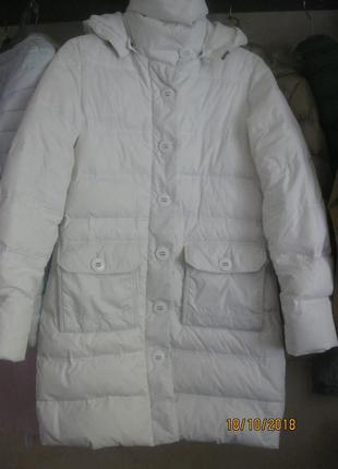 Очень стильный теплый пуховик пальто на 44-46