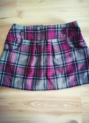 Тепла шерстяна юбка