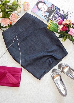 Джинсовая юбка карандаш с высокой талией gap