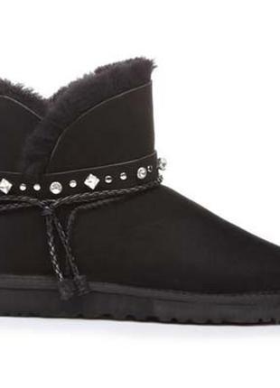 Ugg mini | ботиночки на зиму |натуральная замша + овчина 100%|