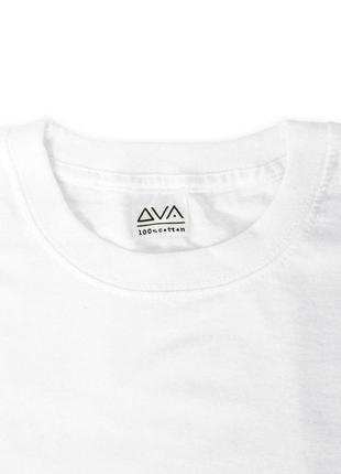 Женская укороченная бело-графитовая футболка из 100%ного хлопка2 фото