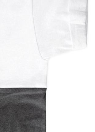 Женская укороченная бело-графитовая футболка из 100%ного хлопка3 фото