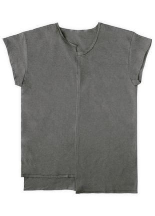 Асимметричная футболка цвета графит унисекс из 100%ного хлопка
