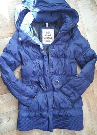 Женская зимняя куртка-пуховик mango
