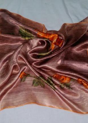Кофейный платок с розами