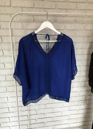 Блуза в бохо стиле с кружевом
