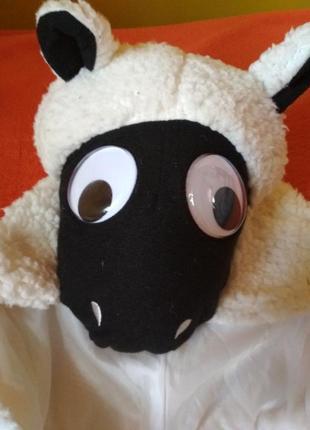 Новорічний костюм баранчика,овечки 110-116см. 5-6 років tu