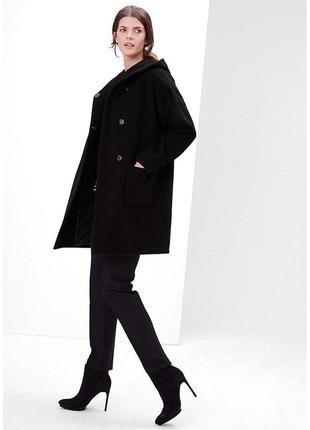 Шерстяное пальто oversize кокон оверсайз с капюшоном большой размер l xl xxl