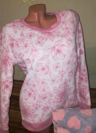 Теплая флисовая пижама