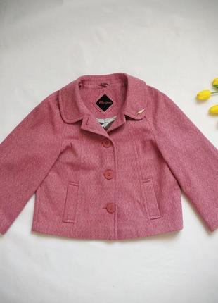 Шерстяное пальто пиджак жакет monsoon в стиле шанель