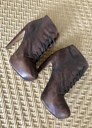 Jeffrey campbell ботильоны ботинки