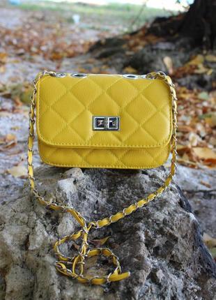Стильная жёлтая сумочка 💐