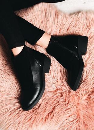 Стильные ботинки из натуральной кожи и замши