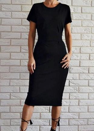 Платье миди с поясом boohoo