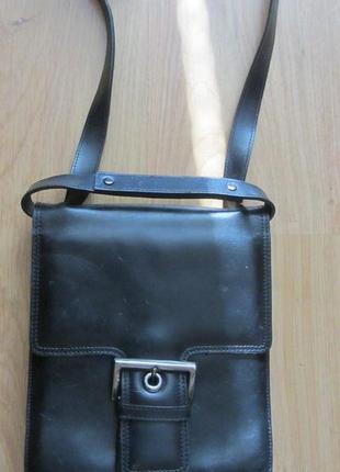 Мужская кожаная сумка - планшет  tula.