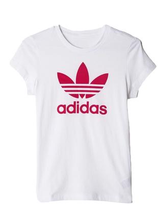 Белая спортивная футболка adidas originals