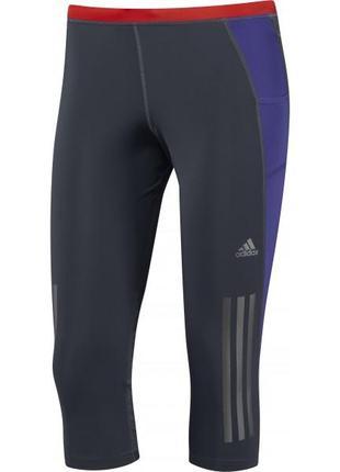 Спортивные бриджи adidas supernova капри бріджи капрі лосины для фитнеса