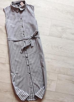 Платье халат в полоску под пояс primark